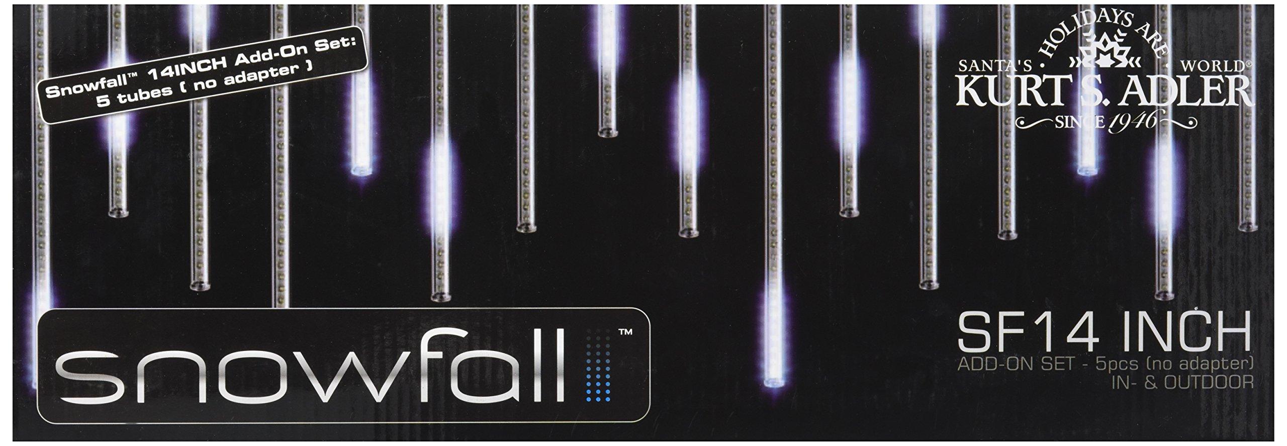 Kurt Adler UL2517N Snowfall Add-On 5-Light Set with 14-Inch Tubes