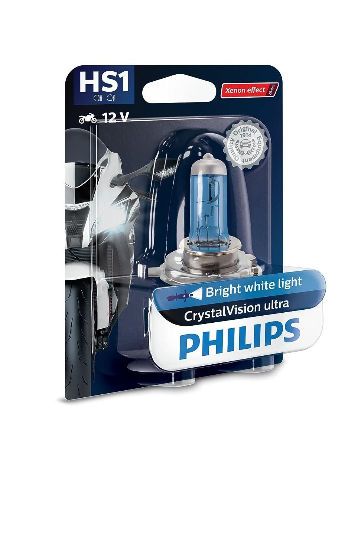 Philips 12636BVBW CrystalVision Ultra Moto HS1 Motorcycle Headlight Bulb, 1 Piece Lumileds Germany GmbH