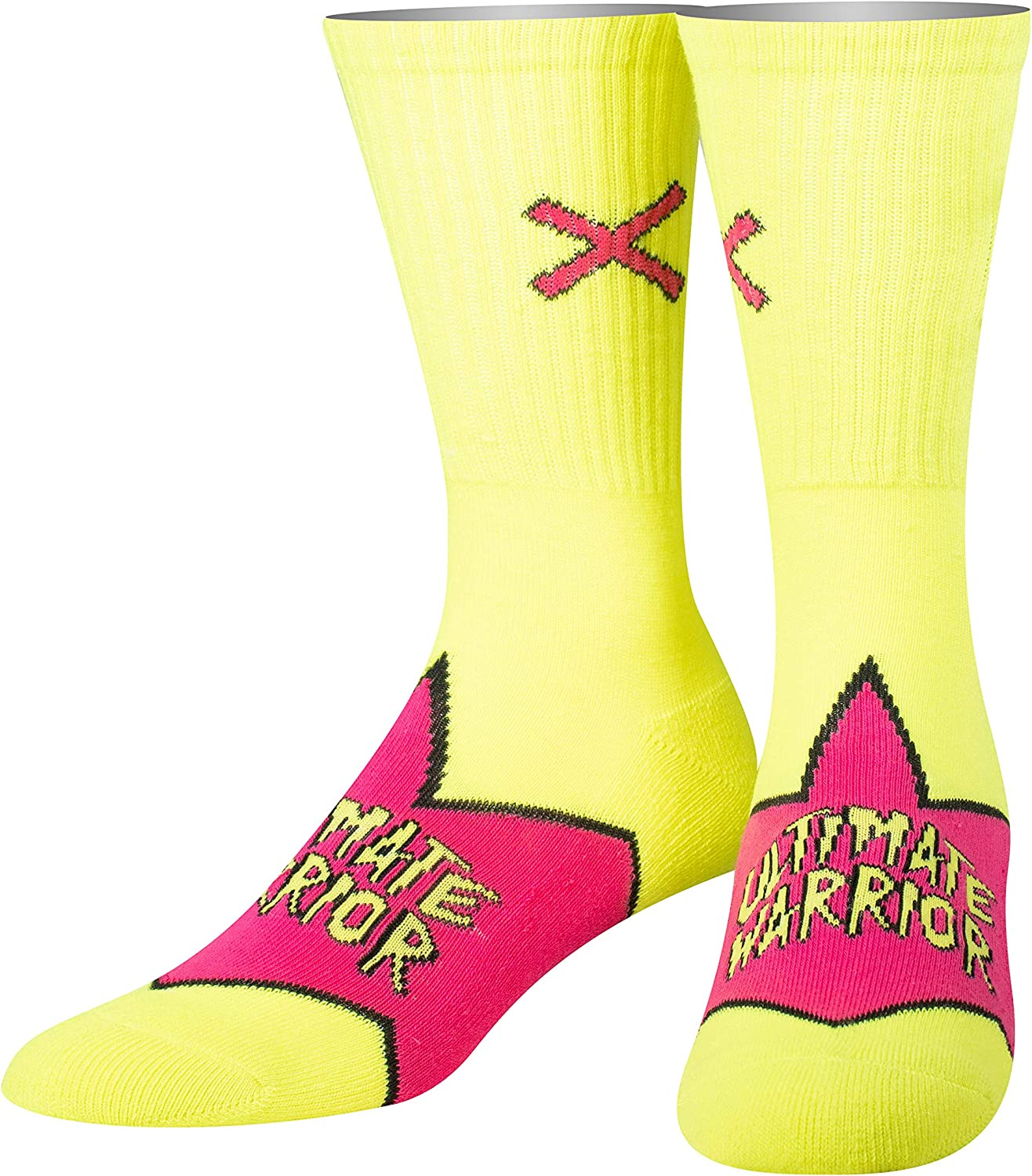 Odd Sox, Unisex, WWE Wrestling, Faces, Crew Socks, WWF Novelty Crazy Funny Silly Cool