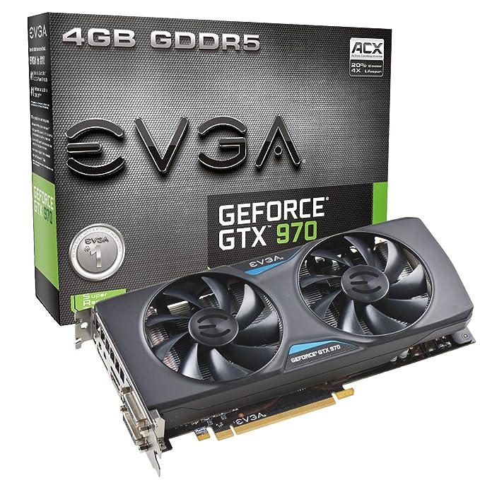 EVGA GTX 970 ACX 4 GB - Tarjeta gráfica con GeForce GTX 970 ...