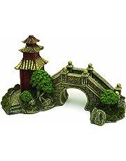 Rosewood Décoration pour Aquarium Pont de Jardin Japonais