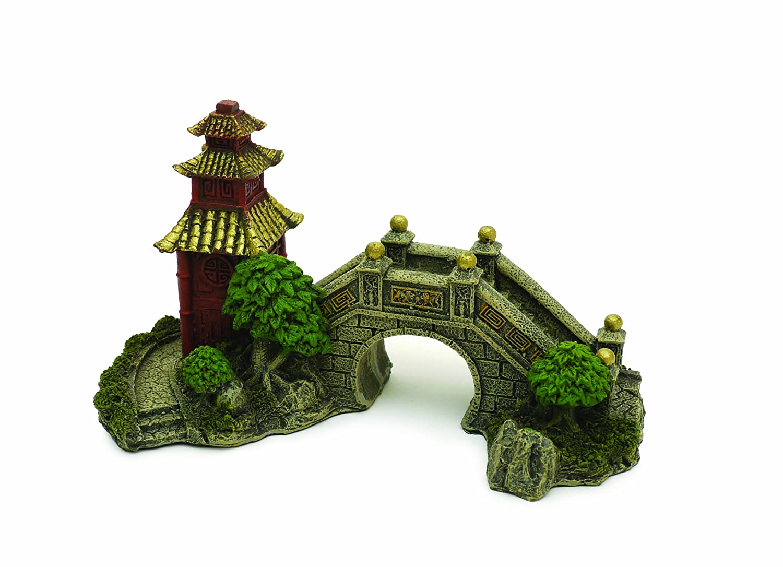Dragon fish tank ornament - Rosewood Blue Ribbon Japanese Garden Bridge Ornament