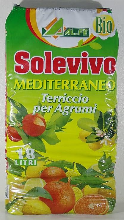 Sustrato Mediterraneo para cítricos Solevivo, paquete de 18 L ...