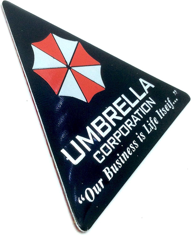 Umbrella Corporation Schwarz Dreieck Resident Evil Metall Auto Aufkleber Abzeichen Decal Auto