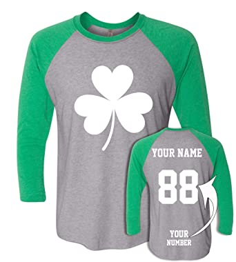 7c2a0b0b79434 Custom Jerseys St Patrick s Day T Shirts - Saint Pattys Baseball Raglans  Irish Outfits