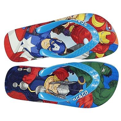 719f0e79abdf1 SoulCal Kids Maui Flip Flop Shoes Toe Post Water Pool Beach Cushioned  Casual Avengers UK 2 (34)  Amazon.co.uk  Shoes   Bags