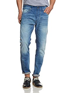 Mens Five Rico 1379 Mid.Blue St-Jeans I Wide Leg Selected