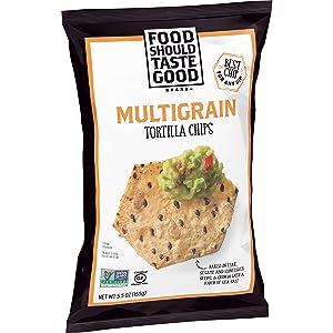 Food Should Taste Good, Tortilla Chips, Multigrain, Gluten Free Chips, 5.5 oz