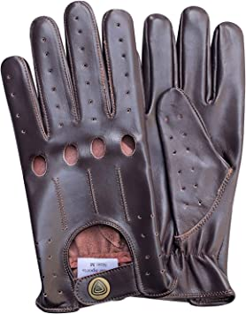 NEW TOP QUALITY REAL SOFT LEATHER UNLINED MENS DRIVING GLOVES RETRO D507