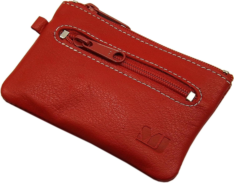 Cuero de b/úfalo Estuches de Llave MJ-Design-Germany en 3 Colores Rojo