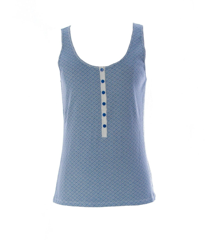 Gant Women's Printed Singoalla Tank Top Medium Sapphire Blue