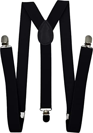 Adjustable and Elastic Consumable Depot Solid Color Suspenders Y-Back