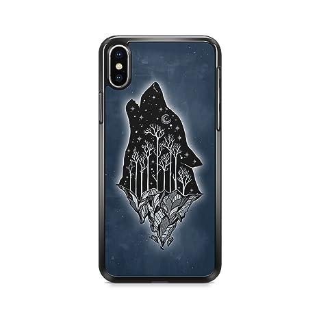 coque iphone xr avec un loup