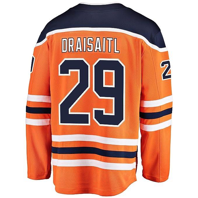 sports shoes 4de49 09673 Amazon.com: Leon Draisaitl Edmonton Oilers Orange Youth Home ...
