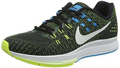 Nike Mens Running Shoes Air Zoom, Black/Volt/Blue Lagoon/White, Size 12.5