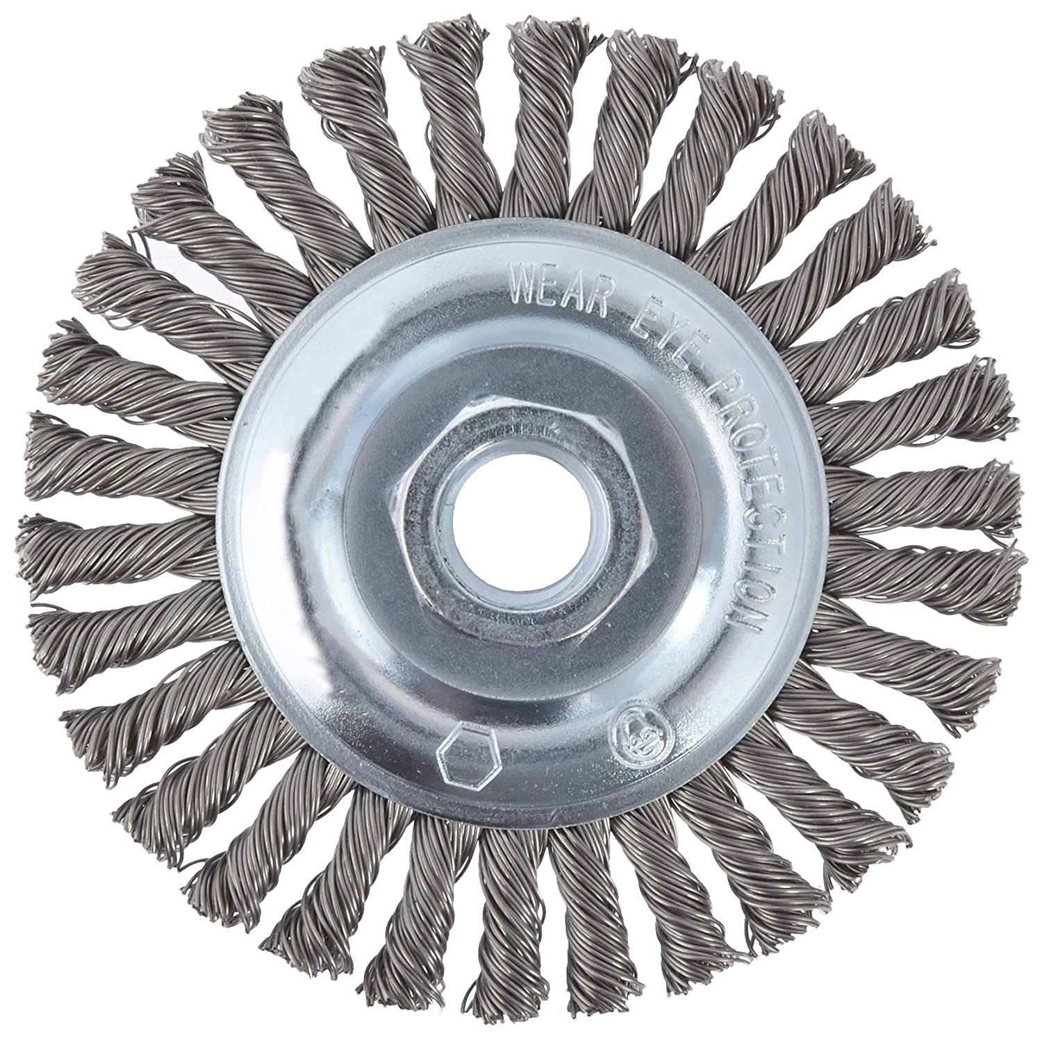 CGW 60520 Knot Wire Wheel Brush, Fast Cut, Carbon, 4\