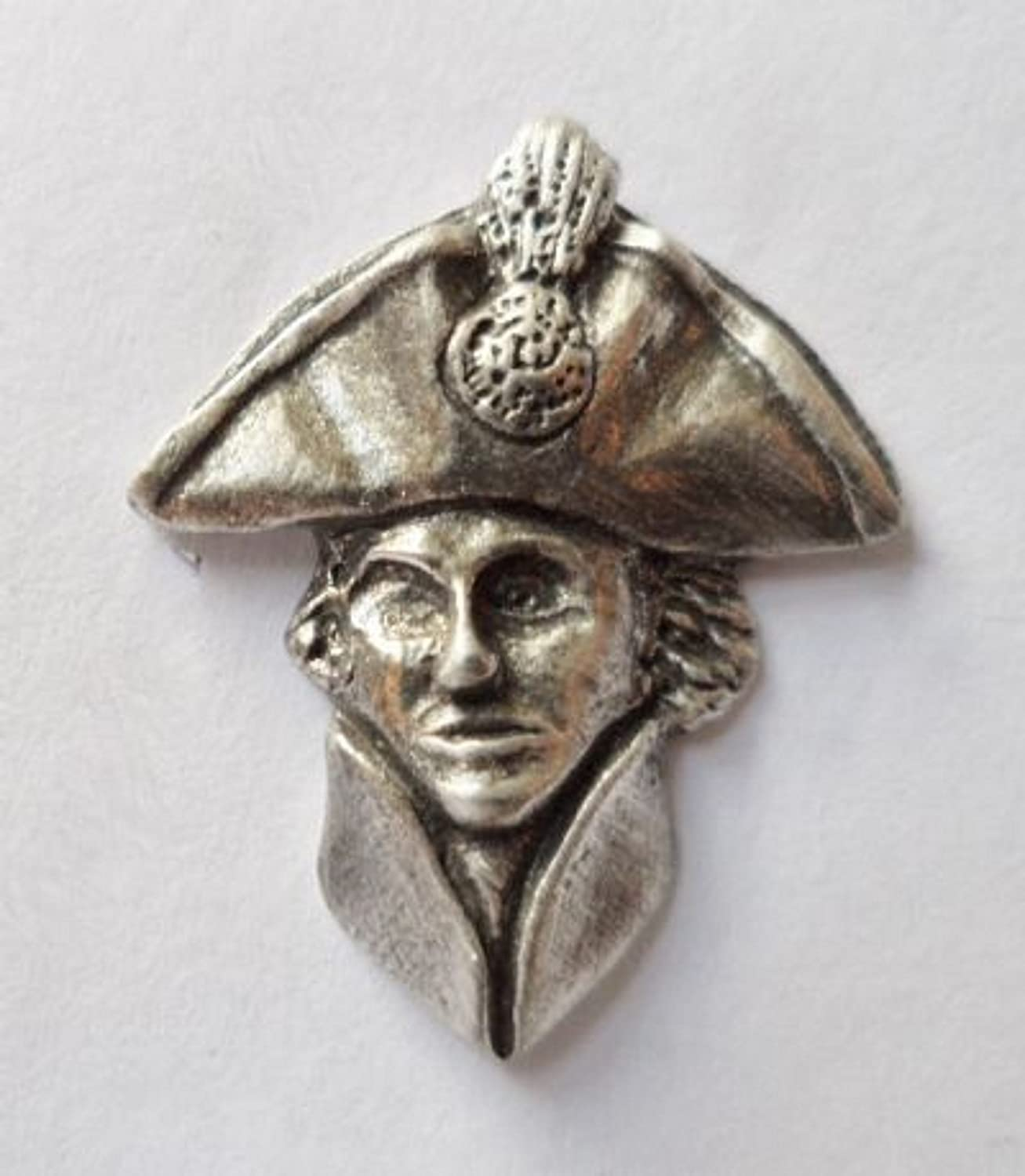Vice Admiral Sir Horatio Nelson Pewter Pin Badge