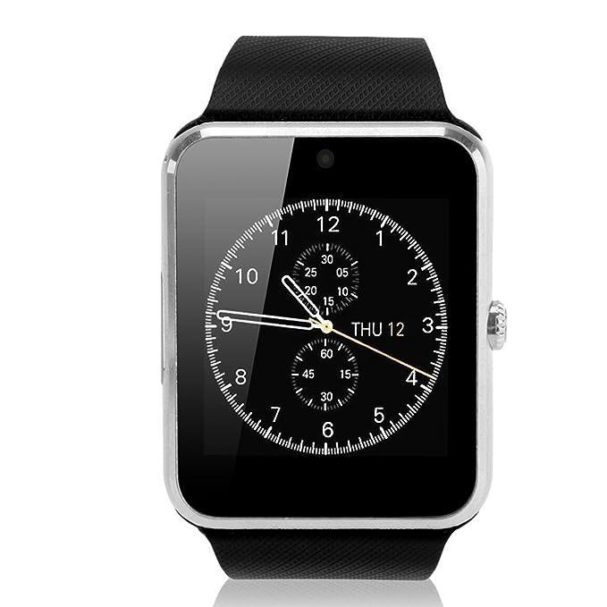GSTEK Reloj Inteligente Bluetooth Smart Watch Teléfono Inteligente Pulsera con Cámara Pantalla Táctil Soporte SIM / TF para Android Samsung HTC LG ...