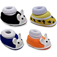Tavish Daisy Baby Canvas Shoes with Anti-Slip Thick Dotted Sole - Combo of 4 (3-12 Months, Boy's and Girl's)
