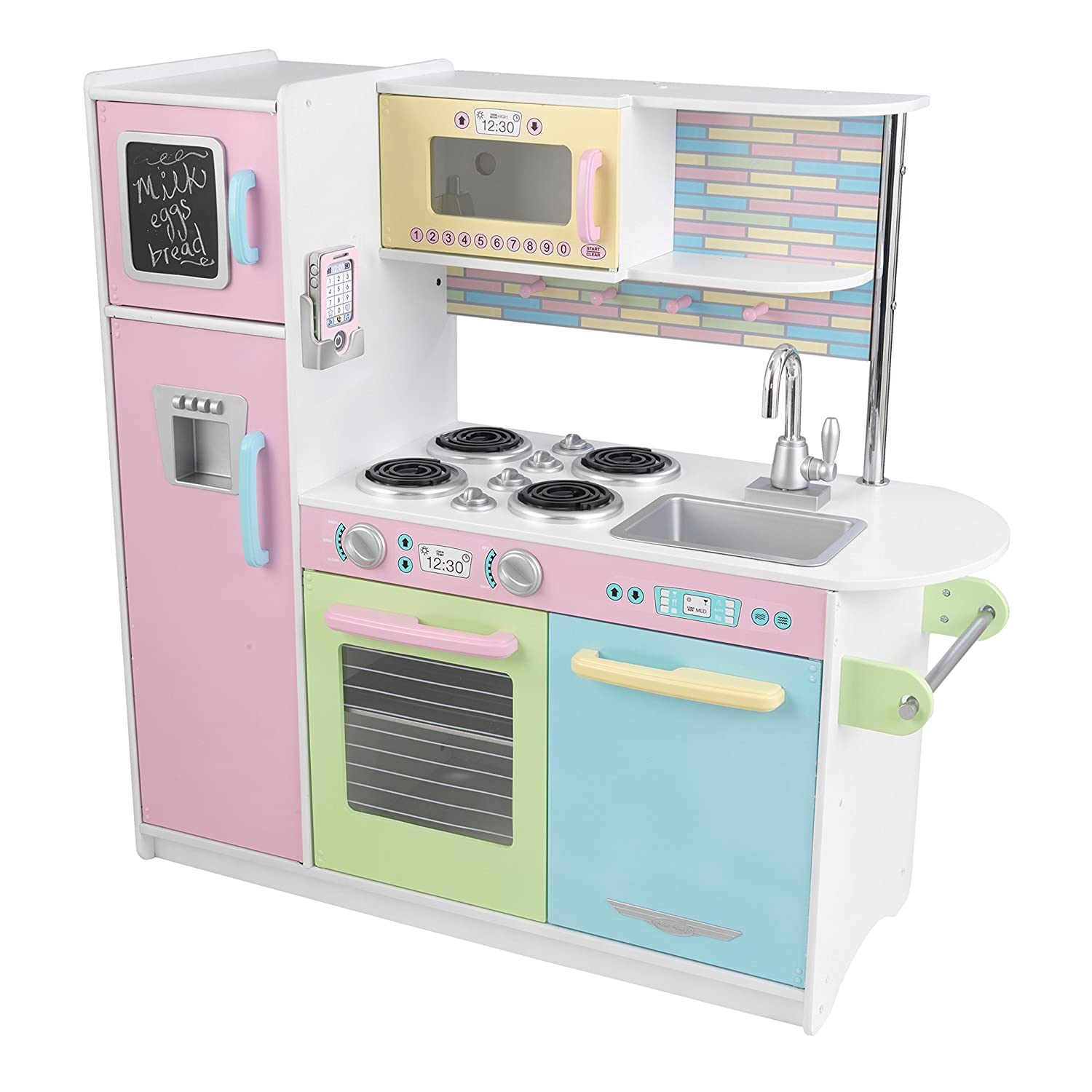 kidkraft uptown pastel kitchen playset toys games