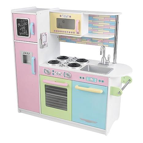 Amazon Com Kidkraft Uptown Pastel Kitchen Playset Toys Games