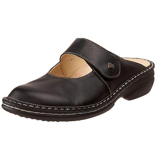 new style 3ee53 d7978 Finn Comfort Damen Stanford Clogs, schwarz, 18.5 EU