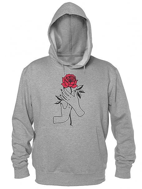 Rose Hand Felpa con cappuccio