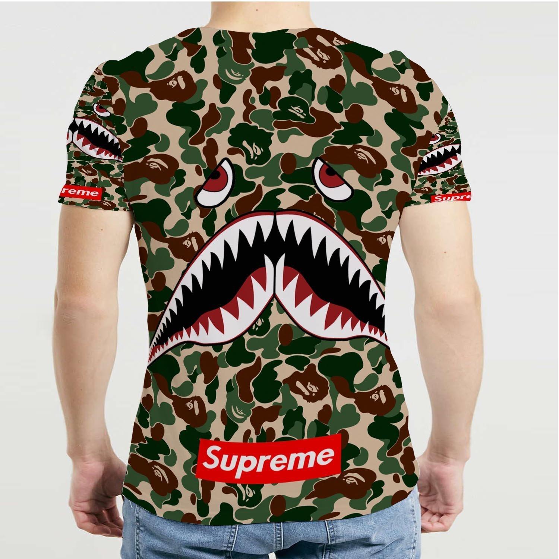 006054e0 Shark The A Bathing Ape Camo Supreme Fullprint Men's T-Shirt [Size M] Size  Medium Men's T-shirt (L), Tees - Amazon Canada