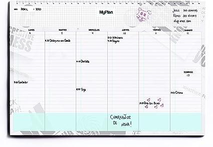 Semanario A4 32x22 - Planner Semanal Agenda de Mesa con Hojas ...