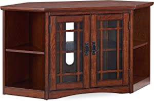 "Leick Home 82287 Mission Corner TV Stand with Bookcase Ends for 50"" TV's"