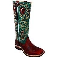 Twisted X Boys' Turquoise Buckaroo Cowboy Boot Square Toe