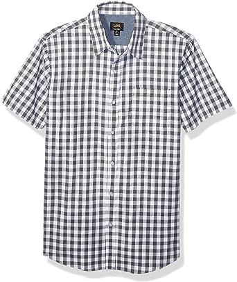 LEE Camisa de vestir de manga corta con botones para hombre: Amazon.es: Ropa y accesorios