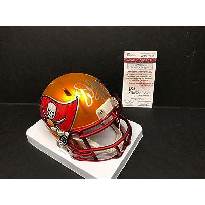 d1470af664d Warren Sapp Signed Tampa Bay Buccaneers BLAZE Football Mini-Helmet HOF  13