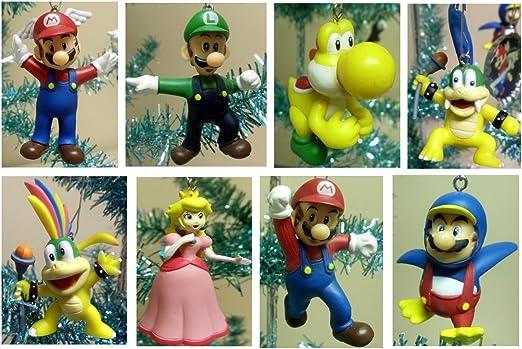 Amazon Com Super Mario Brothers Set Of 8 Holiday Christmas Tree