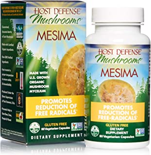 product image for Host Defense, Mesima Capsules, Helps Reduce Free Radicals and Supports Immune Health, Mushroom Supplement, Vegan, Organic, 60 Capsules (30 Servings)