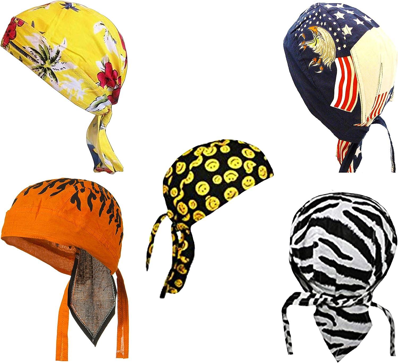 POW-MIA Black Premium Doo Rag Bandana Buys Du Head Skull Caps New Do Men-Women
