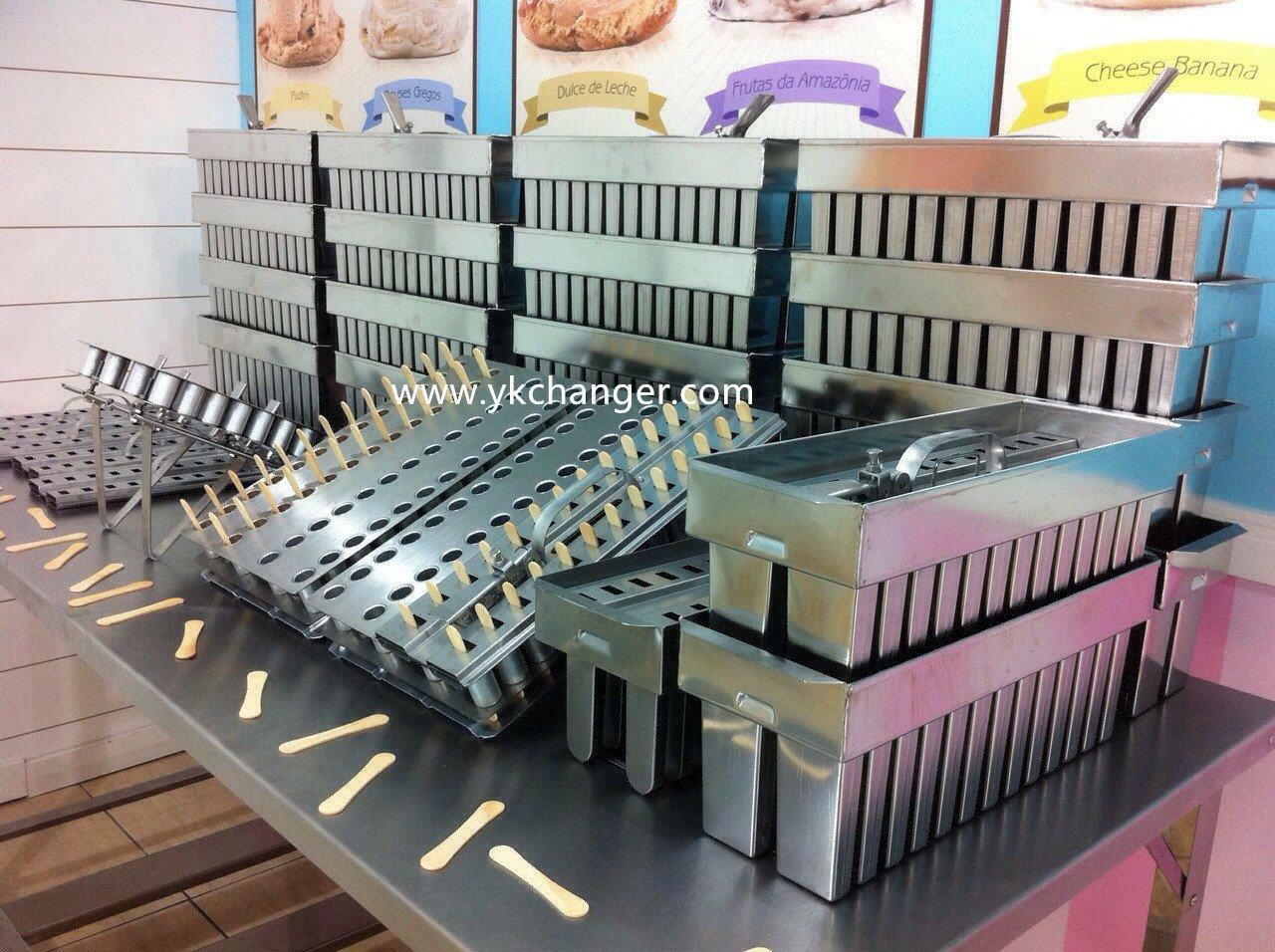 Acero inoxidable de hielo crema moldes Popsicle Moldes mexicana paletas 2 x 13 26 cavidades con Stick (uso comercial: Amazon.es: Hogar
