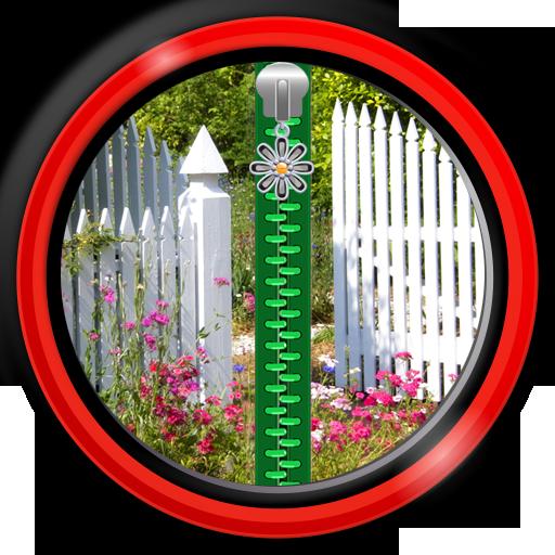 Zipper Lock Screen - Gardens