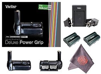 Amazon.com: Vivitar Deluxe Power Grip para Nikon D80/D90 ...