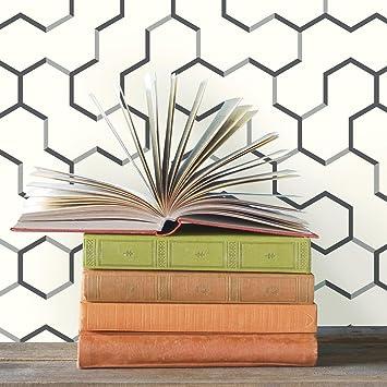 Roommates Gray Open Geometric Peel And Stick Wallpaper Amazon Com