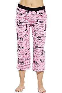 a92deb8010 Just Love 100% Cotton Women Pajama Capri Pants Sleepwear at Amazon ...