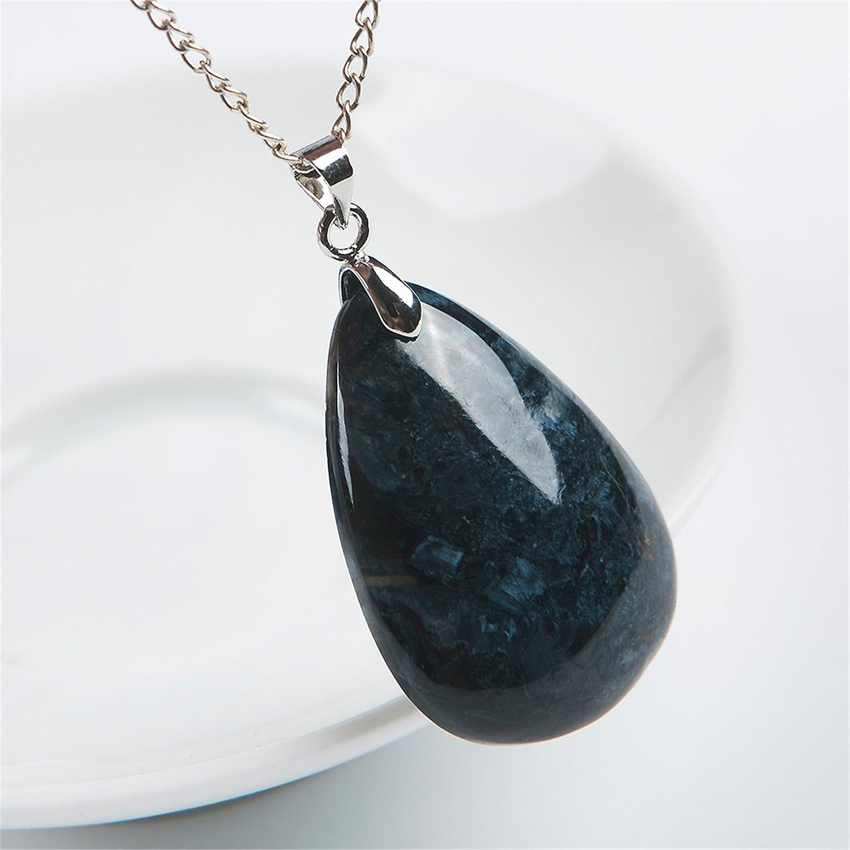 Reikocrystalbeads Gemstone Pendant Natural Pietersite Crystal Water Drop Bead 33x23x8mm