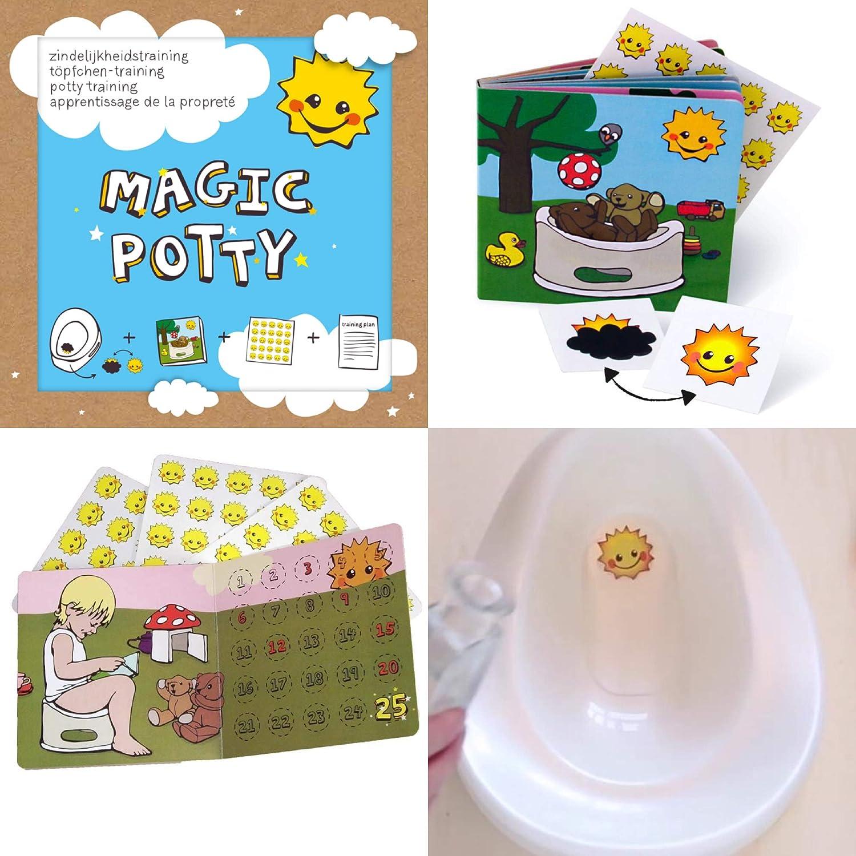 Belohnungssystem Sonne Toilettensticker Lieblingstiere Zaubersticker-Set T/öpfchentraining mit Magic Potty