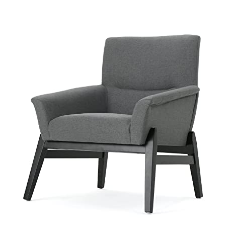 Leona Modern Charcoal Fabric Club Chair (Charcoal)