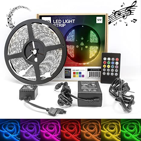 Amazon led concepts strip lights colored led rope lights for led concepts strip lights colored led rope lights for indoor and outdoor decoration music controlled waterproof aloadofball Gallery