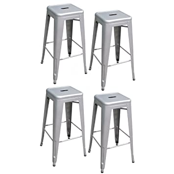 AmeriHome Metal Bar Stool Set 30-Inch Silver Set of 4  sc 1 st  Amazon.com & Amazon.com: AmeriHome Metal Bar Stool Set 30-Inch Silver Set of ... islam-shia.org