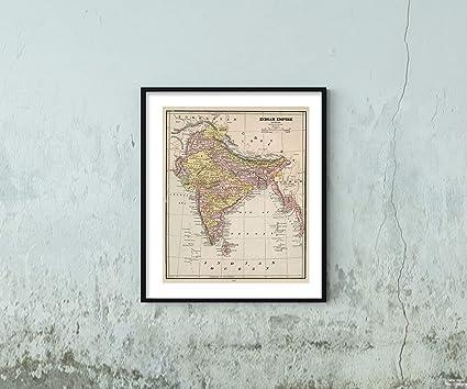 Amazon Com Map World Atlas India Bangladesh Pakistan 1882