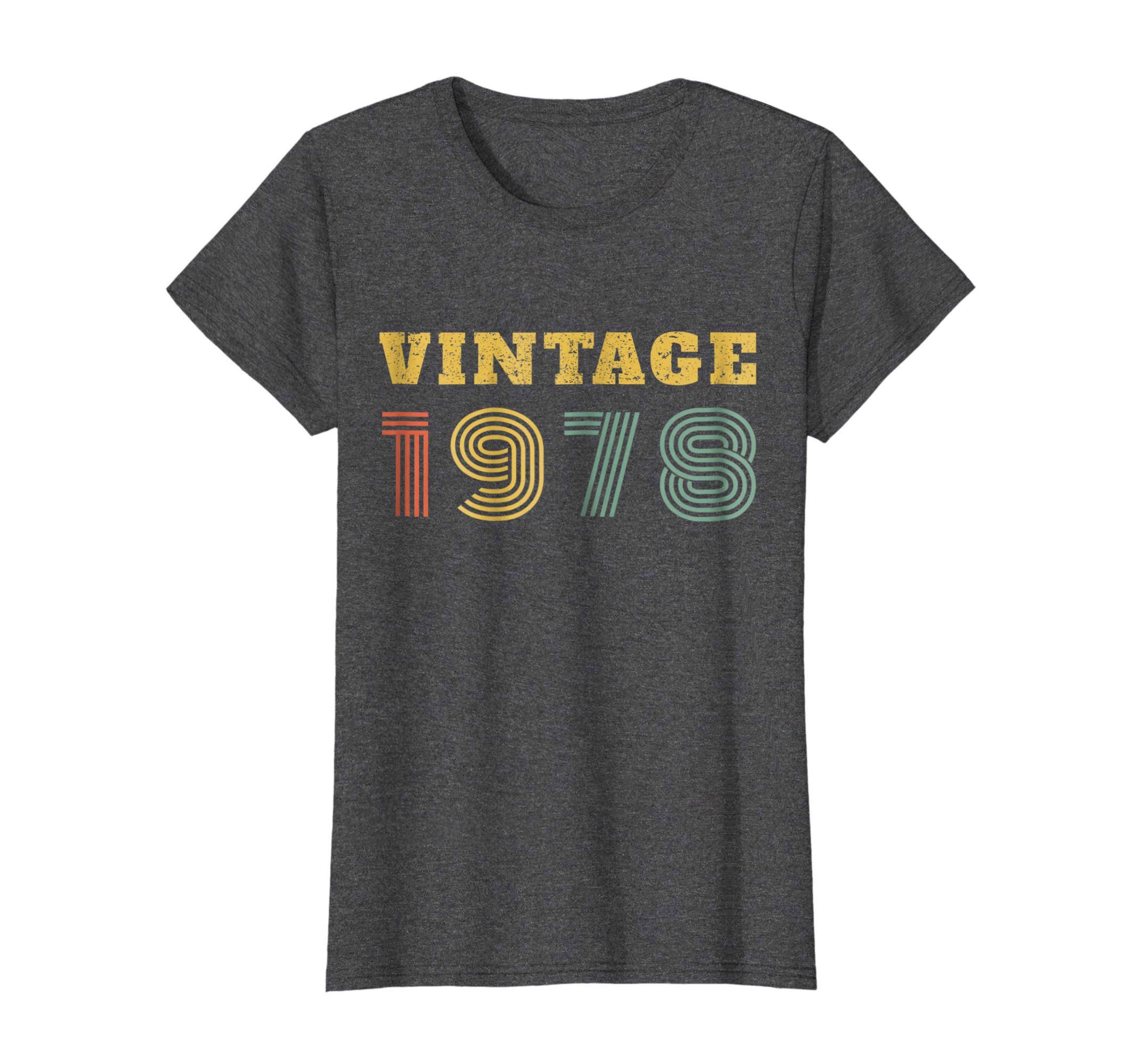 Womens 40th Birthday Gift Vintage 1978 Year T-Shirt Medium Dark Heather