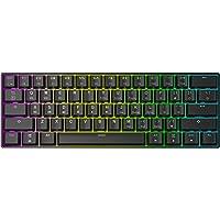 HK Gaming GK61 Teclado mecánico 61 teclas RGB iluminado, retroiluminación LED, para juegos PC/Mac Gamer (Negro , Gateron…