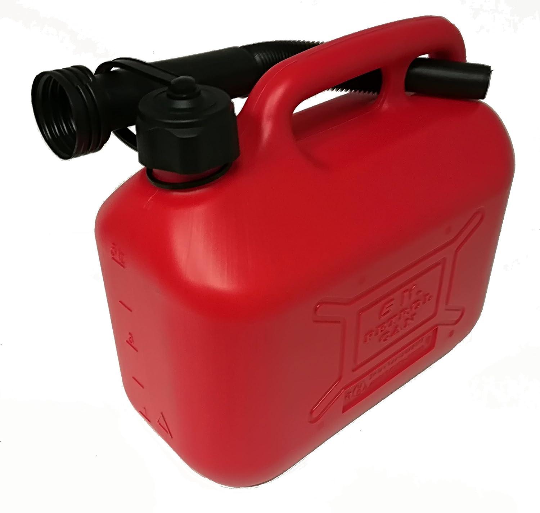 Coamer bg5l Tanica in plastica per benzina, rosso, 5 litri 5litri